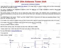 DXZone QRP Antenna Tuner for 20 m