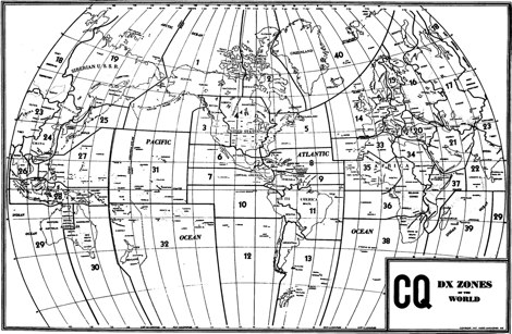 CQ Zones WW Map - Large - Resource Detail - The DXZone.com