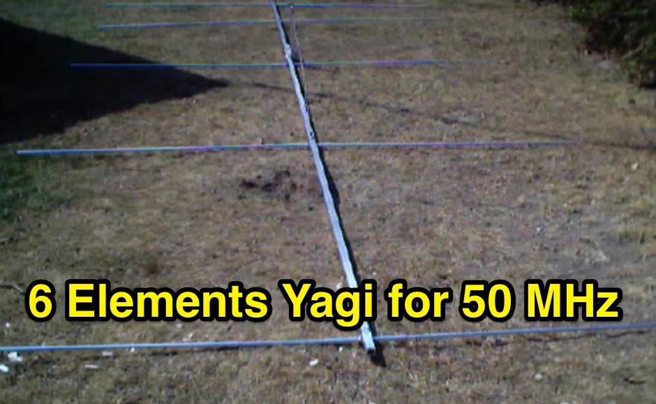 6 Elements Yagi for 50 MHz