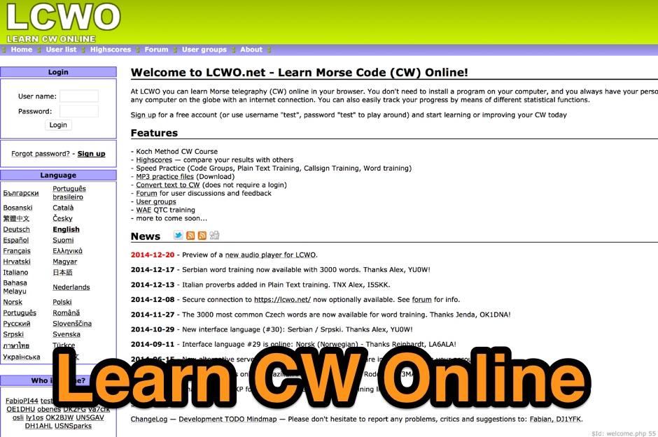 LCWO Learn CW Online