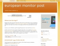 European monitor post