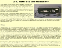 A 40 meter SSB QRP transceiver