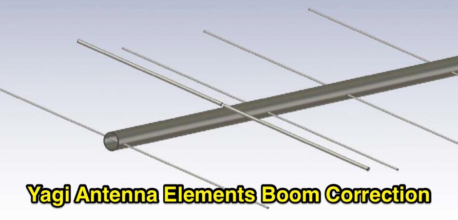 DXZone Yagi Antenna Elements Boom Correction