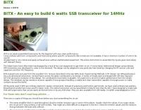 DXZone BITX 6W SSB transceiver for 14MHz