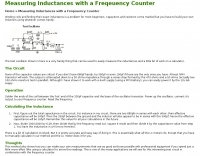 Measuring Inductances with a Freqeuency Counter