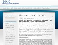 G0KSC 70 Mhz and 50 Mhz Dualband Yagi