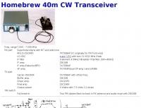 Homebrew 40m CW Transceiver