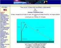 DXZone LA1IC  Coax-Fed slooping longwire