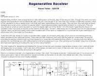 AA5TB regenerative receiver