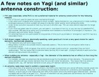 DXZone Yagi antenna construction notes