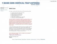 7 band semi-vertical antenna project