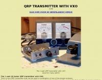 QRP transmitter with VXO