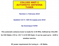 Collins 490T-1 Automatic antenna tuner