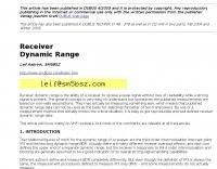 DXZone Receiver Dynamic Range