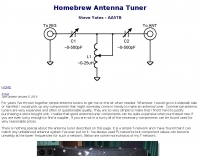 Homebrew Antenna Tuner