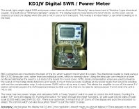 DXZone KD1JV Digital SWR / Power Meter