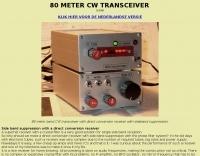 80 meter CW RTX