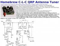 Homebrew C-L-C QRP Antenna Tuner