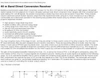 DXZone 40 m Band Direct Conversion Receiver