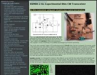 XBM80-2 An Experimental 80m CW Transceiver