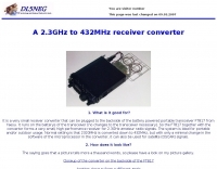 A 2.3GHz to 432MHz receiver converter