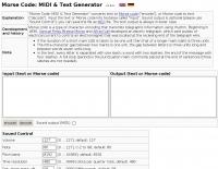 DXZone Morse Code MIDI & Text Generator
