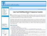 Low cost frequency counter