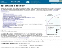 DXZone dB: What is a decibel?