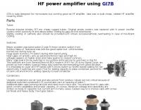HF power amplifier using GI7B