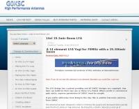 14 el 70 MHz Low Noise LFA Yagi