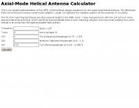DXZone Helical Antenna Calculator