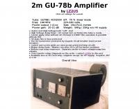 2m GU-78b  4 kW Amplifier