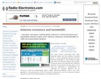 Antenna resonance and bandwidth