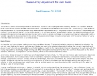 Phased Array Adjustment