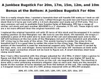DXZone A Junkbox Multiband Bugstick