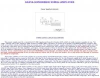 Homebrew 50 MHz Amplifier