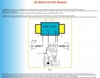 20 Watts PA VHF Module