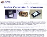 Homebrewed RF power meters