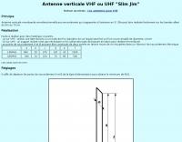 VHF UHF Slim Jim Antenna