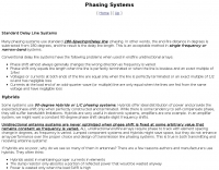 Phasing Systems