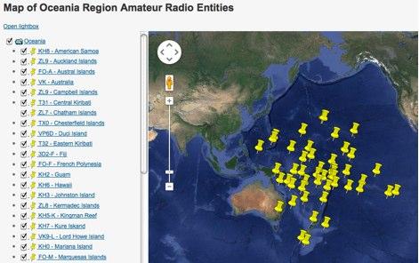 Oceania Radio Entities Map