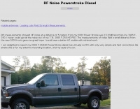 RF Noise Powerstroke Diesel