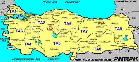 DXZone Ham Map Turkey