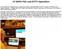 Yaesu FT-897D PSK and RTTY Operation