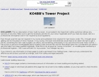 KO4BB Tower Project