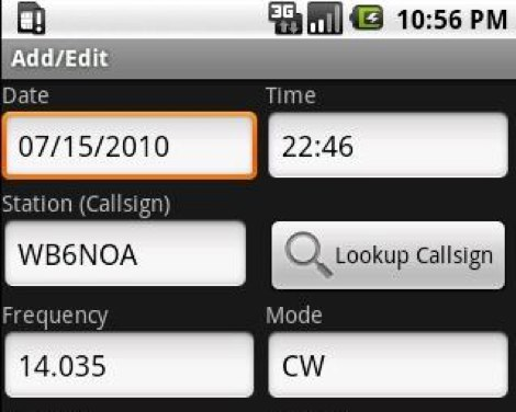 DXZone Amateur Radio Call Log