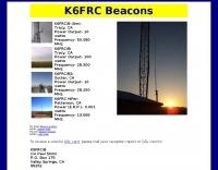 DXZone K6FRC Beacons