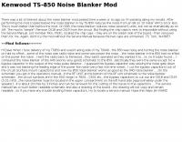 Kenwood TS-850 Noise Blanker Mod