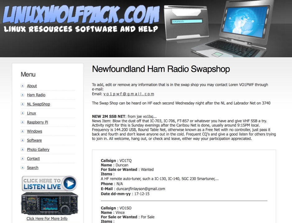 NL Ham Radio Swap Shop