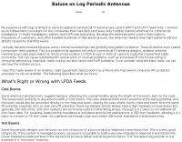 Baluns on Log Periodic Antennas